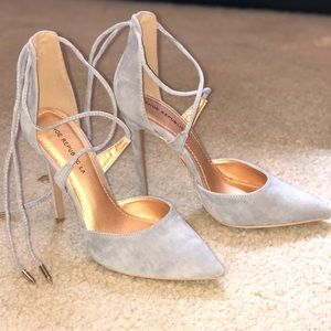 Shoe republic LA point ankle laced heels